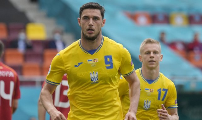 Roman Yaremchuk après son but face à la Macédoine du Nord