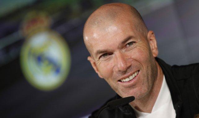 Zinedine Zidane en conférence de presse