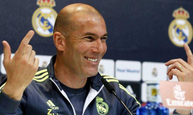 Zinedine Zidane lors d'une conférence de presse