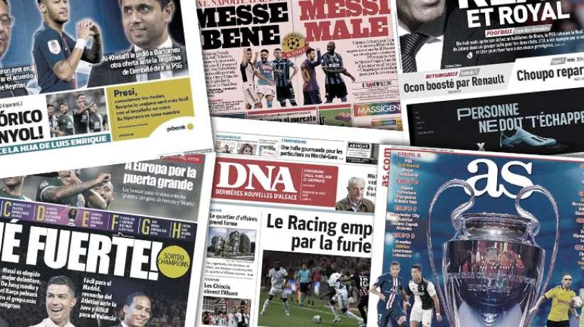 Revue de Presse Pros] Neymar de retour en France ce samedi